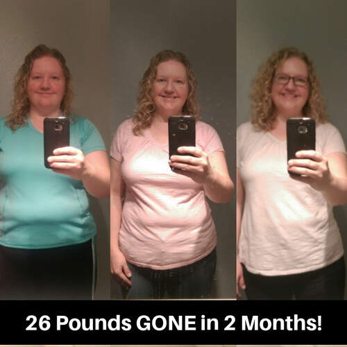 Amber lost 26 lbs. in two months