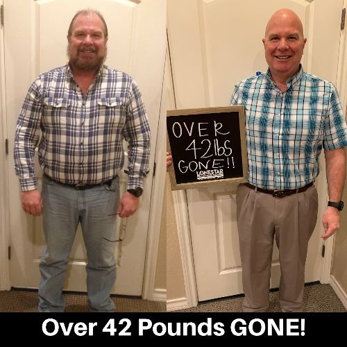 Gary has lost over 42 lbs.