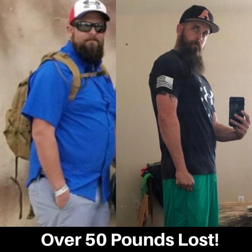 W. Adair lost over 50 lbs.
